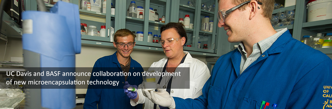 UC Davis and BASF announce collaboration on development of new microencapsulation technology